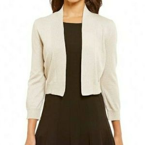 NWT Calvin Klein Lightweight cream sweater shrug